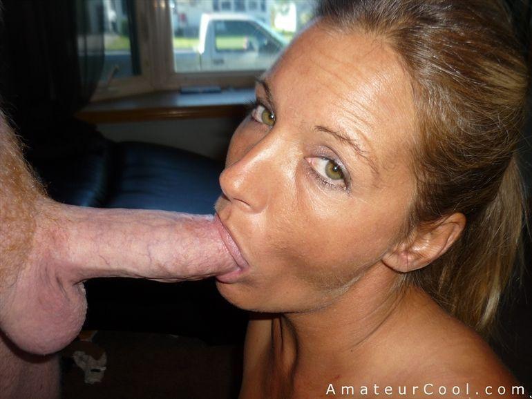 Wife gives husband blowjob